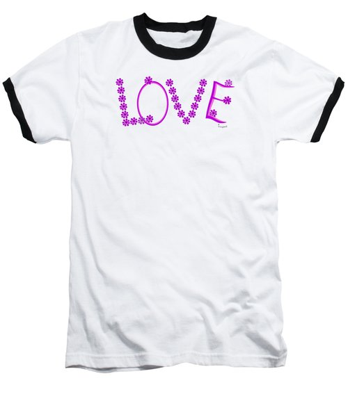 1281 -  Love    Colour Violet Baseball T-Shirt by Irmgard Schoendorf Welch
