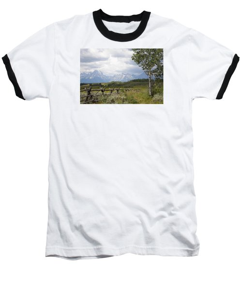 Teton Ranch Baseball T-Shirt by Diane Bohna