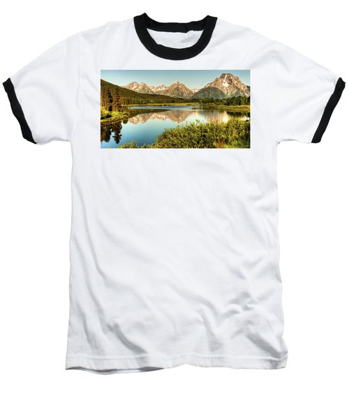 Teton Reflections Baseball T-Shirt by Rebecca Hiatt