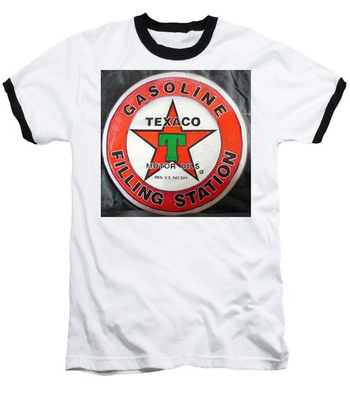 Texaco Sign Baseball T-Shirt