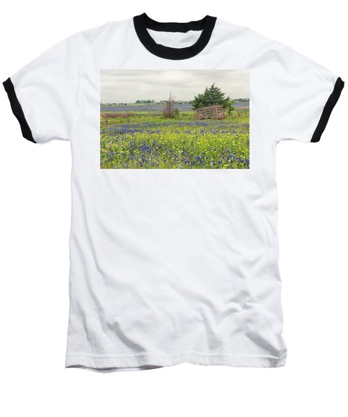 Texas Bluebonnets 3 Baseball T-Shirt