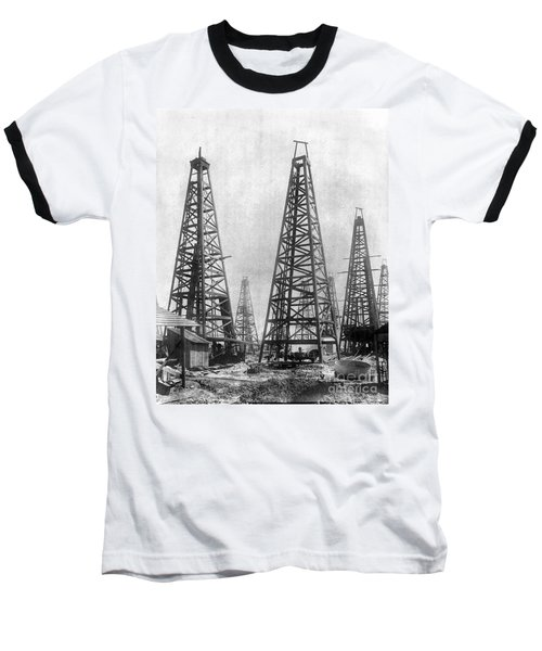 Texas: Oil Derricks, C1901 Baseball T-Shirt