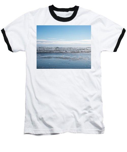 Textured Blues Baseball T-Shirt