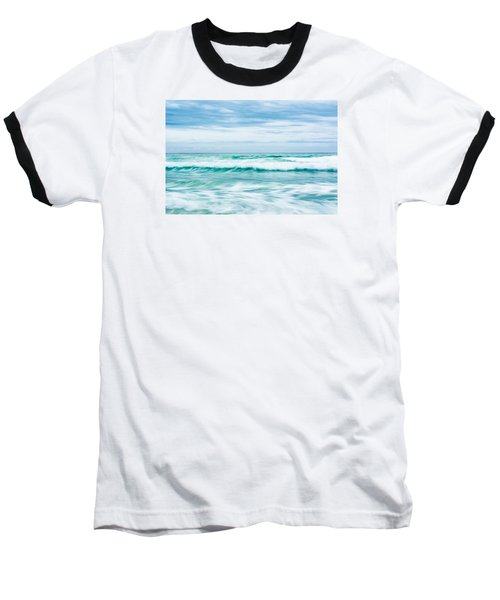 Textures In The Waves Baseball T-Shirt by Shelby  Young