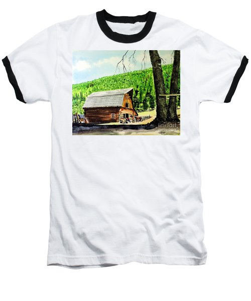 That Barn From That Movie Baseball T-Shirt by Tom Riggs