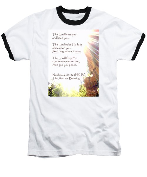The Aaronic Blessing And True Light Lower Emerald Pools Zion Baseball T-Shirt