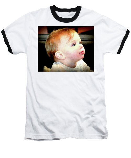 Baseball T-Shirt featuring the photograph The Age Of Innocence by Barbara Dudley