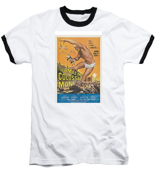 The Amazing Colossal Man Movie Poster Baseball T-Shirt