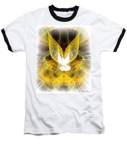 The Angel Of Forgiveness Baseball T-Shirt by Diana Haronis