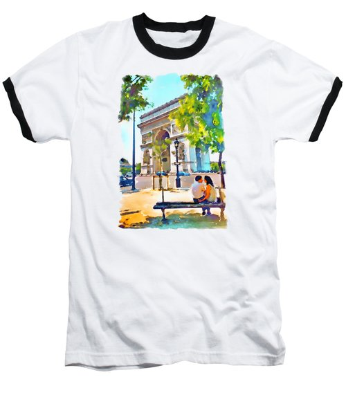 The Arc De Triomphe Paris Baseball T-Shirt