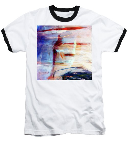 Baseball T-Shirt featuring the painting The Auberge by Dominic Piperata