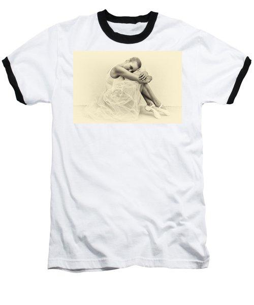 Le' Ballerina Baseball T-Shirt by Swank Photography