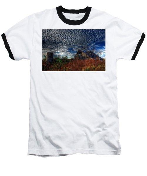 The Barn At Twilight Baseball T-Shirt by Karen McKenzie McAdoo
