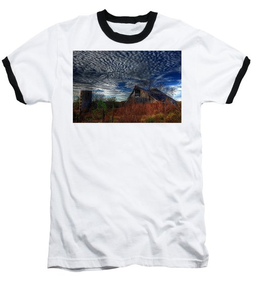 The Barn At Twilight Baseball T-Shirt