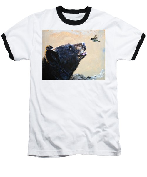 The Bear And The Hummingbird Baseball T-Shirt