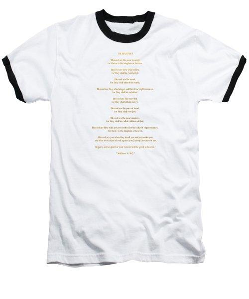 The Beatitudes Gospel Of Matthew Baseball T-Shirt by Rose Santuci-Sofranko