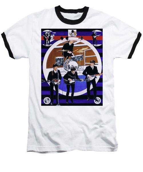 The Beatles - Live On The Ed Sullivan Show Baseball T-Shirt