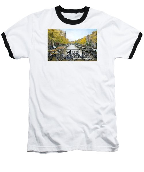 The Bicycle City Of Amsterdam Baseball T-Shirt