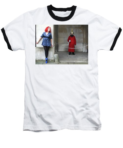 The Blue Ballet Shoes Hide From The Queen's Guard Baseball T-Shirt