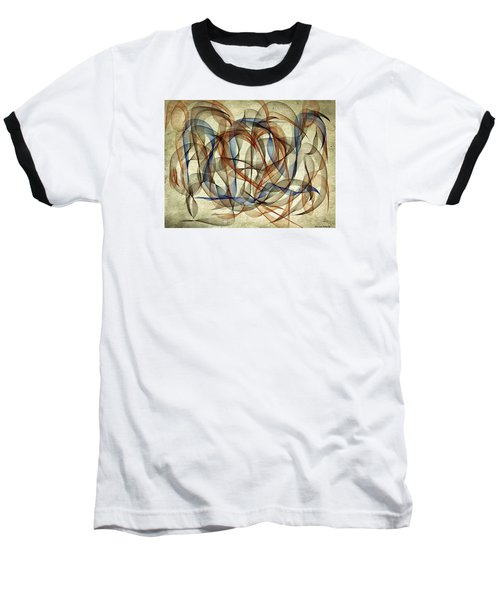 The Blues Abstract Baseball T-Shirt