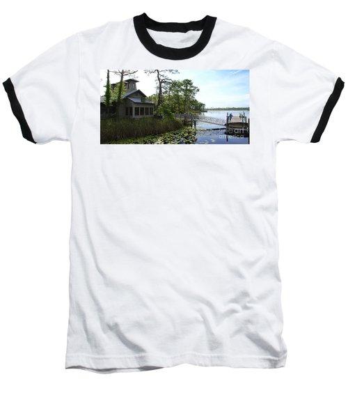 The Boathouse At Watercolor Baseball T-Shirt