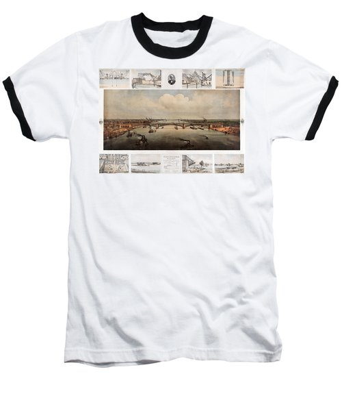 The Bridge At St. Louis, Missouri, Ca. 1874 Baseball T-Shirt