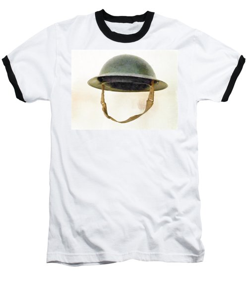 The British Brodie Helmet  Baseball T-Shirt