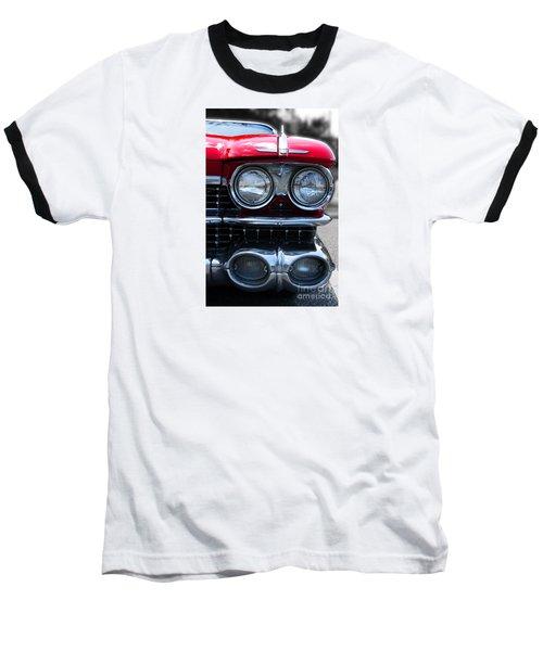 Baseball T-Shirt featuring the photograph The Cadillac Way by Rebecca Davis