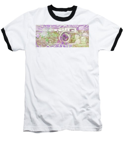 Baseball T-Shirt featuring the digital art The Camera - 02c6 by Variance Collections