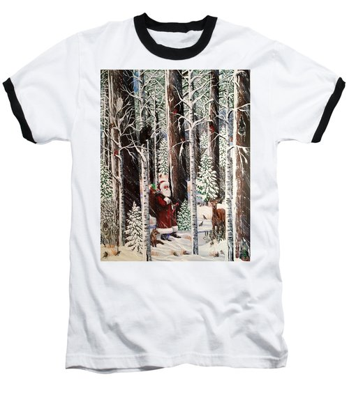 The Christmas Forest Visitor Baseball T-Shirt
