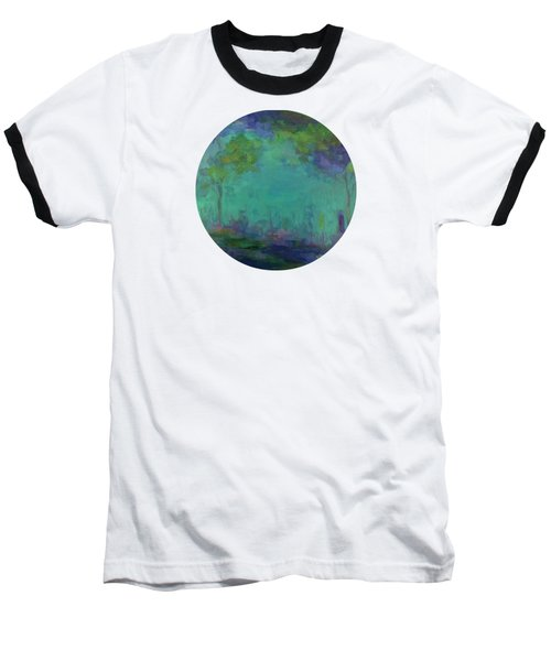 The City In The Distance Baseball T-Shirt by Mary Wolf