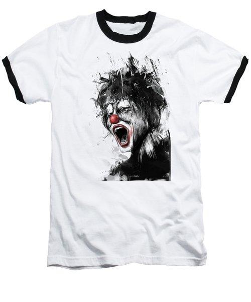 The Clown Baseball T-Shirt by Balazs Solti