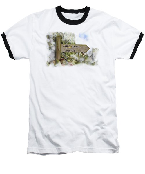 The Cornish Way On Transparent Background Baseball T-Shirt by Terri Waters