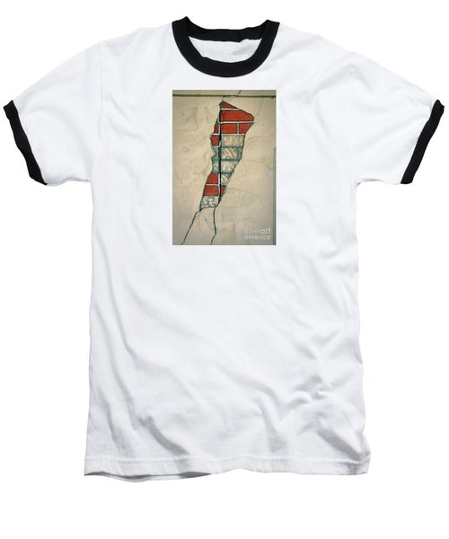 The Cracked Wall Baseball T-Shirt by Nareeta Martin