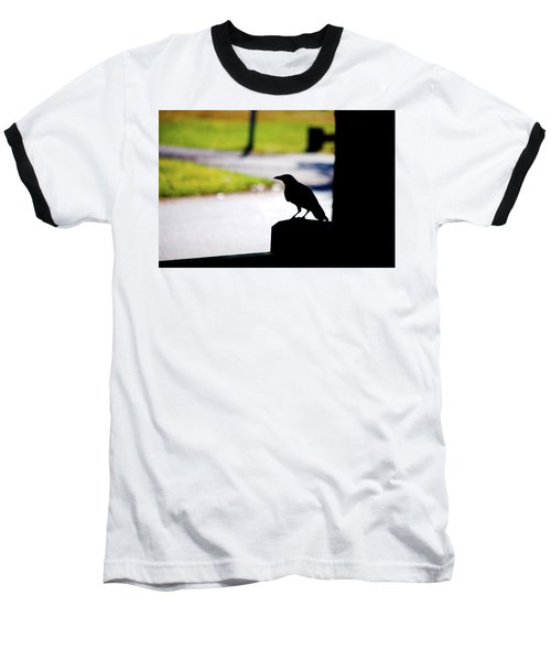 Baseball T-Shirt featuring the photograph The Crow Awaits by Karol Livote