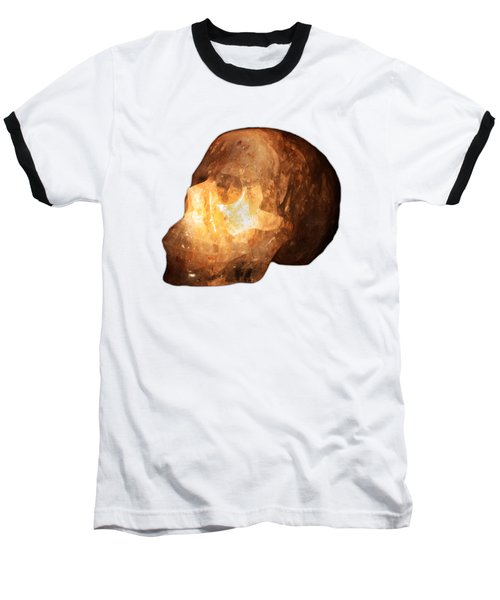 The Crystal Skull On Transparent Background Baseball T-Shirt by Terri Waters