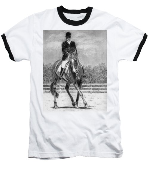 Baseball T-Shirt featuring the drawing The Dance by Quwatha Valentine