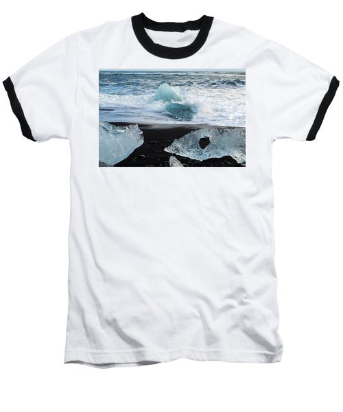 Baseball T-Shirt featuring the photograph The Diamond Beach, Jokulsarlon, Iceland by Dubi Roman
