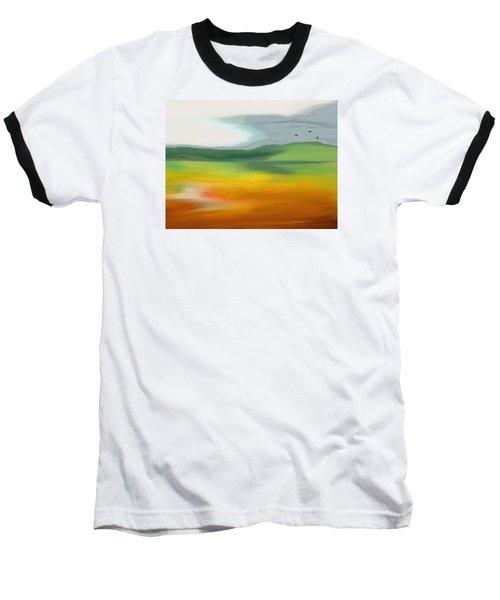 The Distant Hills Baseball T-Shirt by Lenore Senior