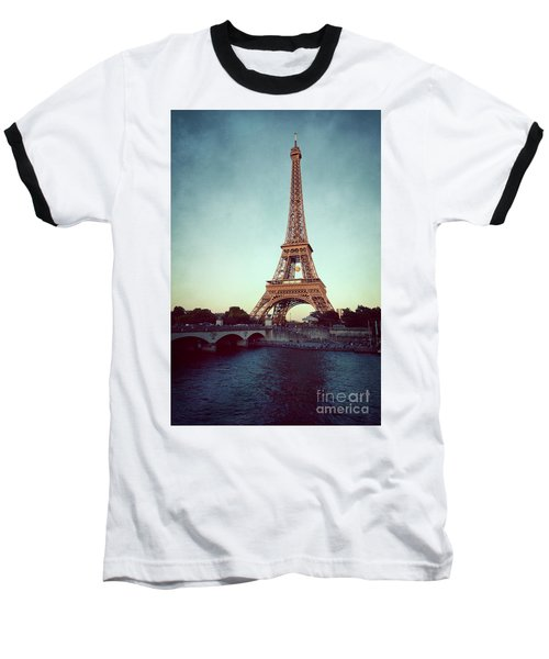 Baseball T-Shirt featuring the photograph The Eifeltower by Hannes Cmarits