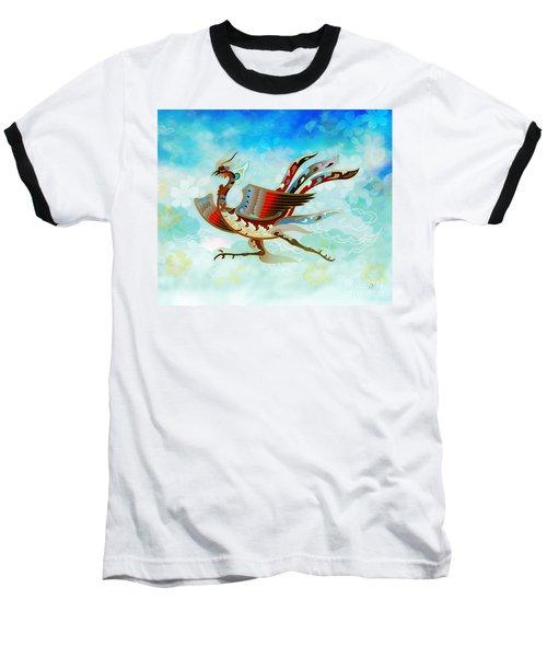 The Empress - Flight Of Phoenix - Blue Version Baseball T-Shirt