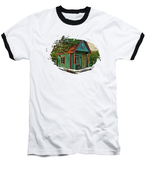 Baseball T-Shirt featuring the photograph The Enchanted Garden Shed by Thom Zehrfeld