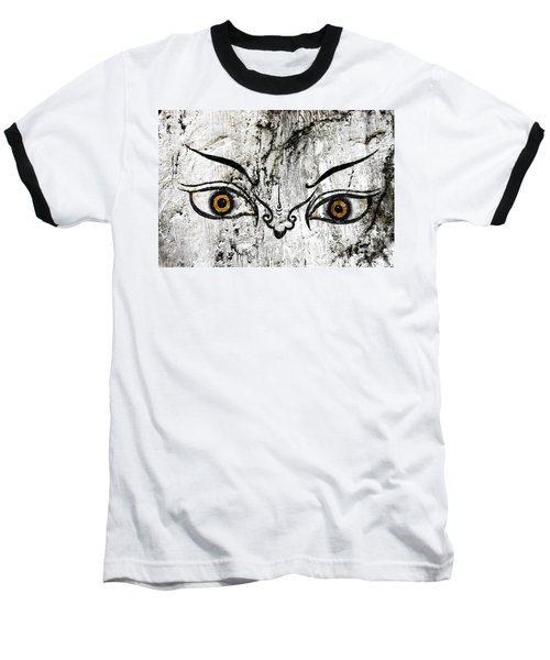 The Eyes Of Guru Rimpoche  Baseball T-Shirt