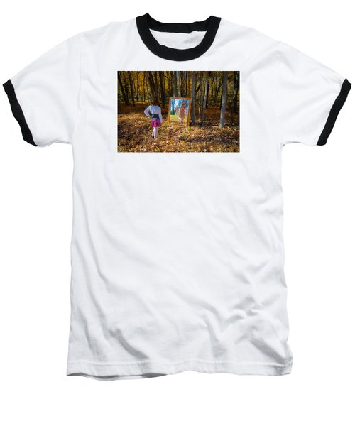 The Fairy In The Mirror Baseball T-Shirt