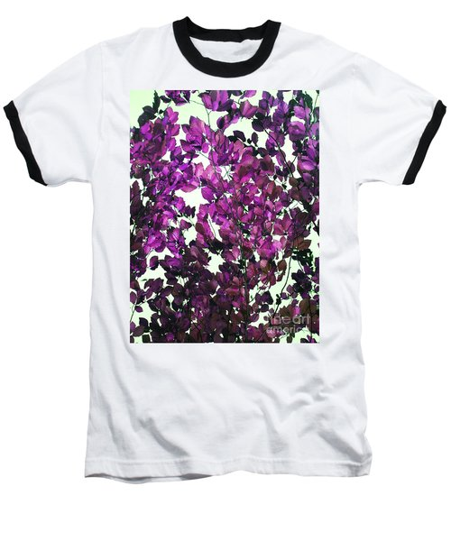 The Fall - Intense Fuchsia Baseball T-Shirt by Rebecca Harman