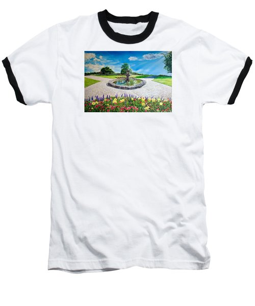 Gushing Fountain Baseball T-Shirt