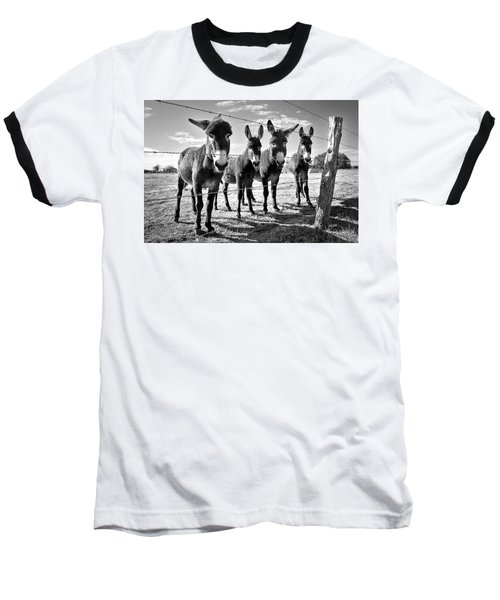 Baseball T-Shirt featuring the photograph The Four Amigos by Sharon Jones