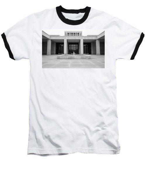 The George W. Bush Presidential Library And Museum  Baseball T-Shirt by Robert Bellomy