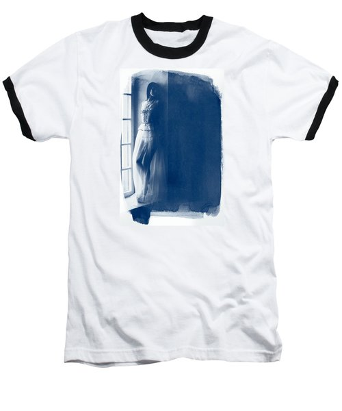 The Girl At The Window. Baseball T-Shirt