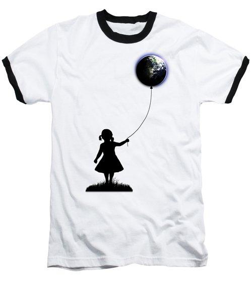 The Girl That Holds The World - White  Baseball T-Shirt